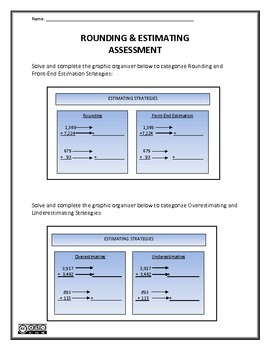 Rounding and Estimating Assessment