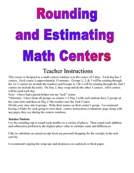 Rounding and Estimating Centers and Activities