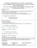 Rounding and Estimating Fractions and Decimals
