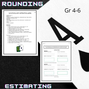 Rounding and Estimating Game
