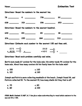 rounding and estimating numbers study guide and test by sarah warwick. Black Bedroom Furniture Sets. Home Design Ideas