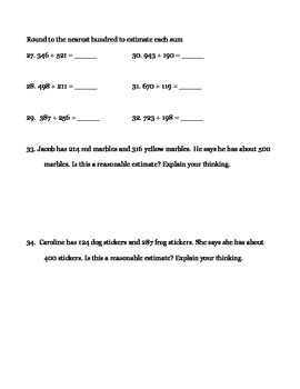 Rounding and Estimating Practice