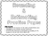 Rounding and Estimating Practice Pages