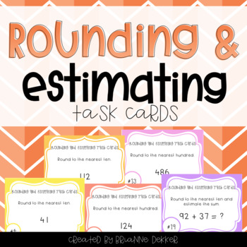 Rounding and Estimating Task Cards