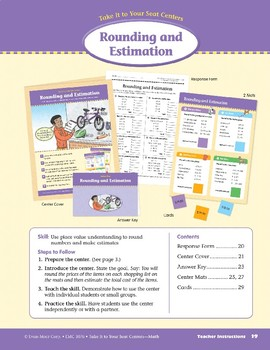 Rounding and Estimation (Take It to Your Seat Centers Common Core Math)