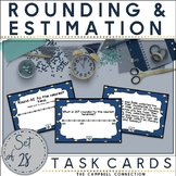 Rounding to the Nearest 10 and 100 with a Number Line Task Cards