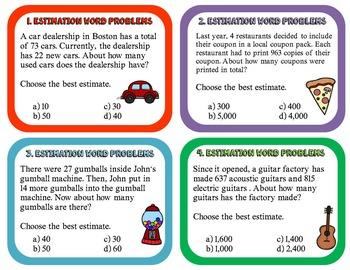 Estimation Word Problems 4.OA.A.2