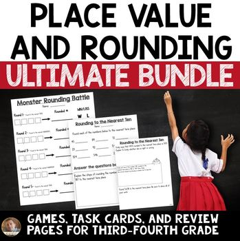 Rounding and Place Value Bundle for 3rd Grade