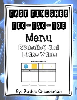 Rounding and Place Value Choice Menu