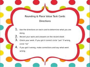 Rounding and Place Value to 1000 Task Cards