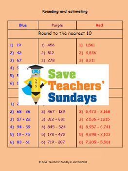 Rounding and estimating lesson plans, worksheets and more