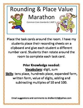 Rounding and place value Marathon 3.NBT.1