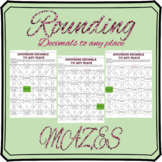 Rounding decimals to any place mazes