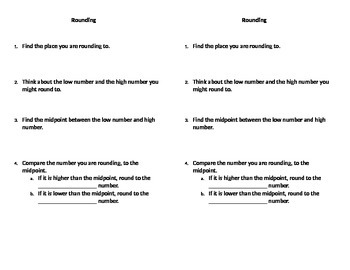 Rounding note for interactive notebook