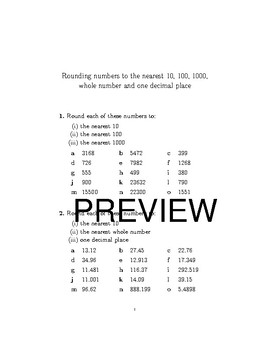 Rounding numbers bundle