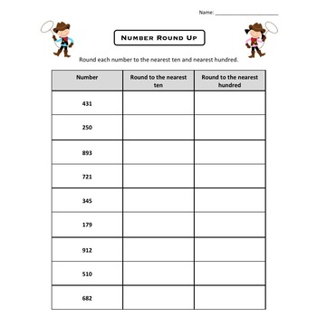 Rounding numbers to the nearest ten and hundred