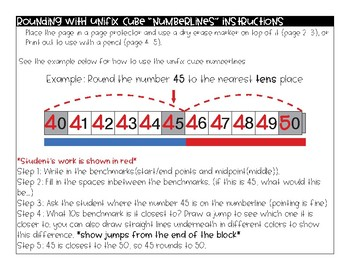 Rounding with Unifix Cube number lines