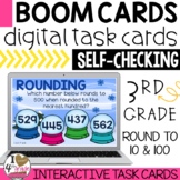 Rounding to 10 and 100 Boom Cards