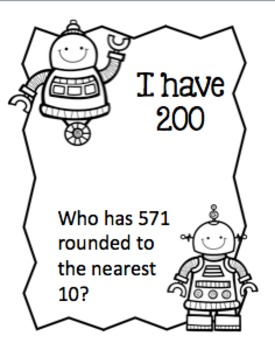 Rounding to 10 and 100 - I Have Who Has