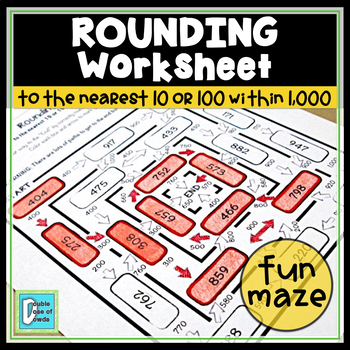Rounding to 10 or 100 within 1000 Maze
