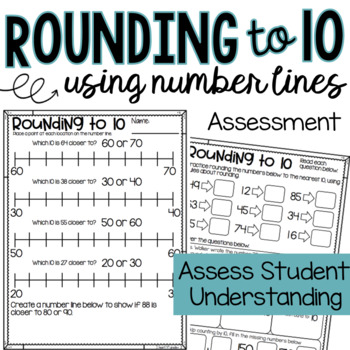 Rounding to 10 using Number Lines