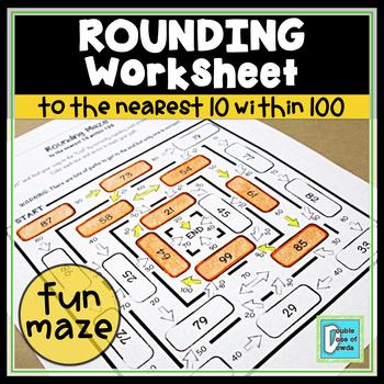 Rounding to 10 within 100 Maze