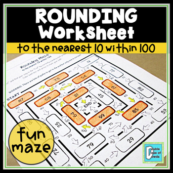 Rounding to 10 within 100 Worksheet