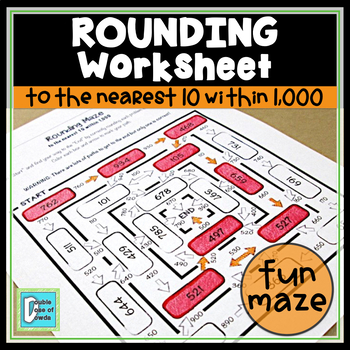 Rounding to 10 within 1000 Maze