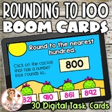 Rounding to 100 BOOM Cards | Digital Task Cards