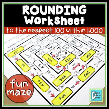 Rounding to 100 within 1000 Worksheet