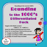 Rounding to 1000's Differentiated Pack- Great for Intervention Groups