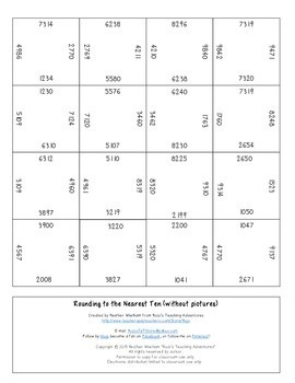 Rounding Games | Rounding to the Nearest 10 and 100 and 1000 within Thousands