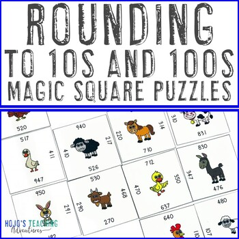Rounding to 10s & 100s within Hundreds Numbers Math Center Games