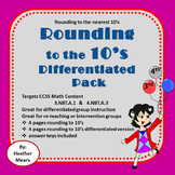 Rounding to 10's Differentiated Pack - Great for Intervention Groups