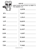 Rounding to 10s and 100s common core worksheet