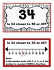 Rounding to 10s on a Number line ~ Large Flashcards