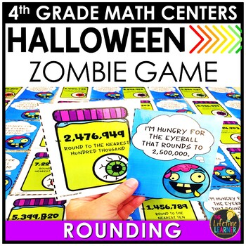 Rounding to Any Place Value Game October Math Center