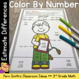 3rd Grade Go Math 1.8 Color By Numbers Rounding to Estimat