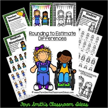 Rounding to Estimate Differences Center and Printables