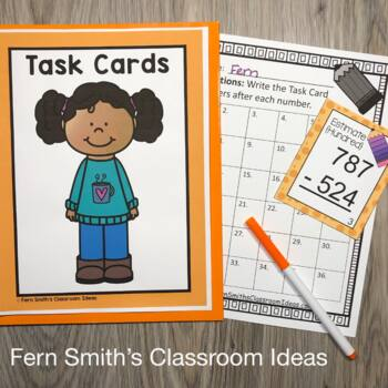 Rounding to Estimate Differences Task Cards
