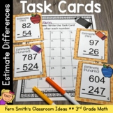 3rd Grade Go Math 1.8 Rounding to Estimate Differences Task Cards