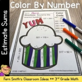 3rd Grade Go Math Chapter One 1.3 Rounding to Estimate Sums Color By Numbers