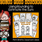 3rd Grade Go Math 1.3 Color By Numbers Rounding to Estimate the Sum