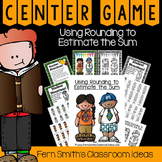 3rd Grade Go Math 1.3 Rounding to Estimate Sums Center Game and Printables