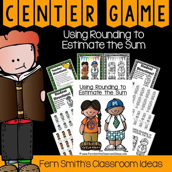 Rounding to Estimate Sums Center Game and Printables
