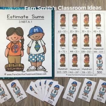 3rd Grade Go Math 1.3 Rounding to Estimate Sums Bundle