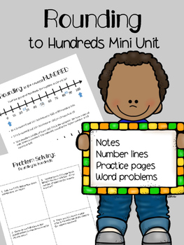 Rounding to Hundreds Number Lines and Word Problems