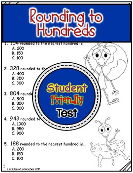 Rounding to Hundreds Test