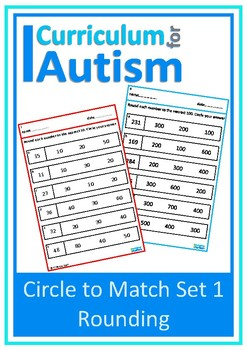 Rounding to Nearest 10, 100, 1000, Autism, Special Ed, Independent Work