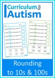 Rounding to Nearest 10 and 100 Autism Special Education